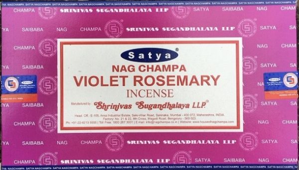 Incenso Bastoncini violet resemary