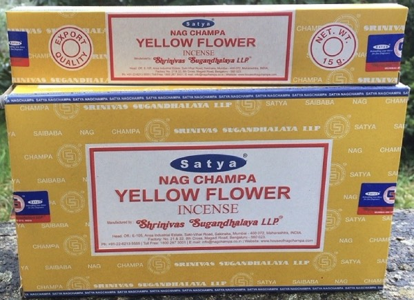 Incenso Bastoncini yellow flower