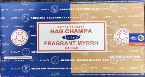 Incenso Bastoncini Nag Champa & Myrrh