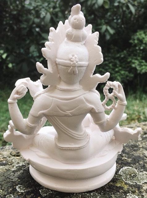 Statua resina bianca