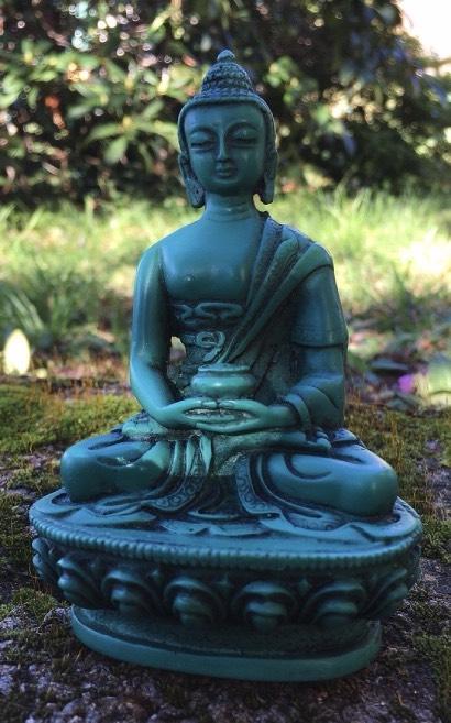 Buddha resina verde