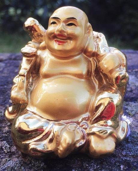 Statua resina dorata