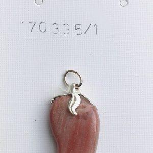 legno pietrificato ciondolo
