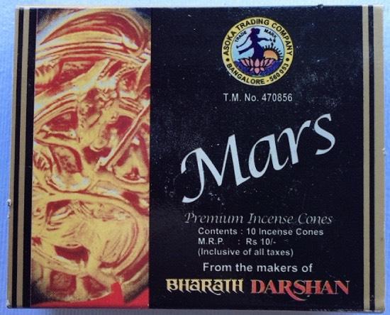 incenso coni Mars