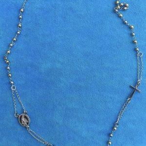 collana rosario bicolore