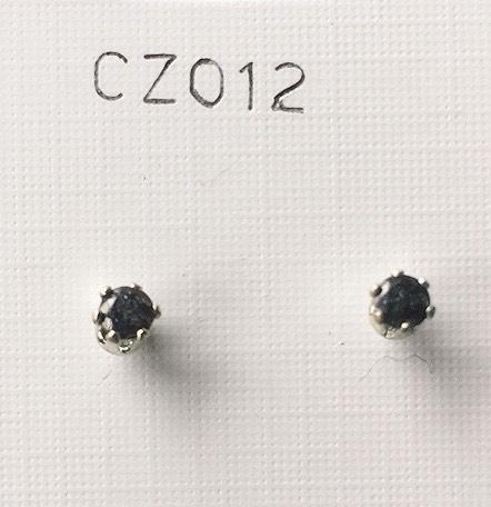orecchini cristallo nero