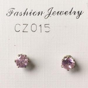 orecchini cristallo rosa
