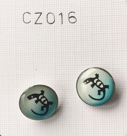 Bottone con gechi