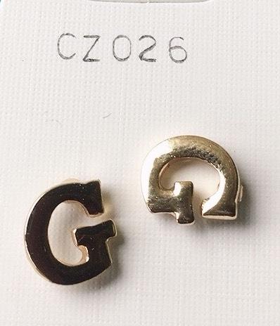 orecchini lettere