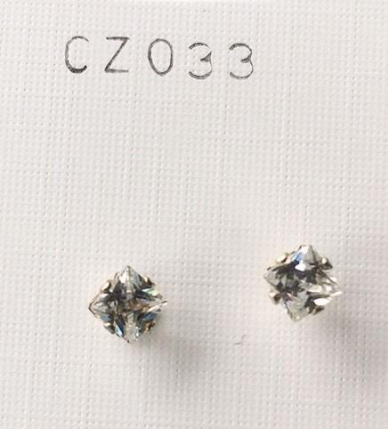 orecchini cristalli bianchi