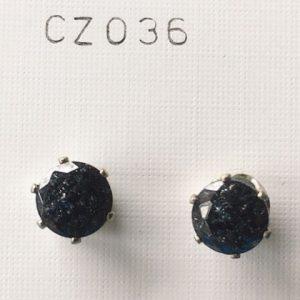 orecchini cristalli neri