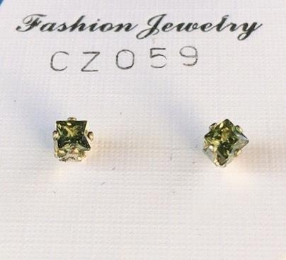 orecchini verdi oliva