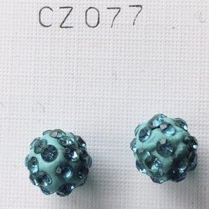 orecchini palline azzurre