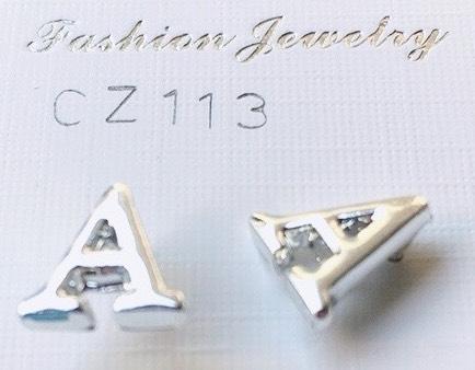 orecchini lettere A