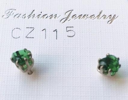 cristalli verdi orecchini