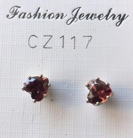 cristalli rossi a cuore