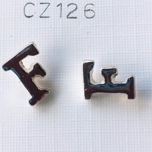 orecchini lettere F