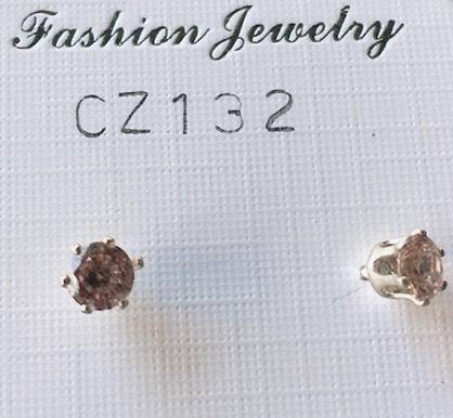 orecchini cristalli beige