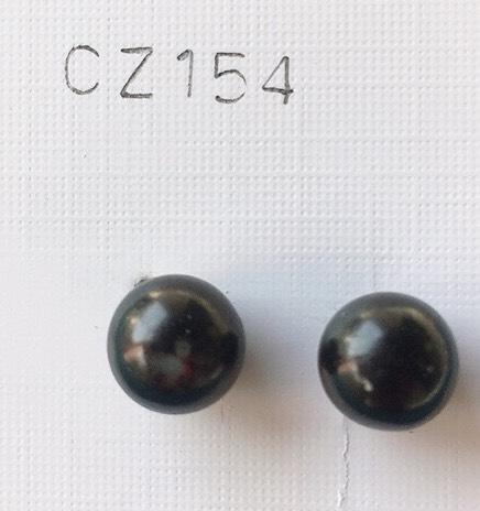 orecchini palline nere