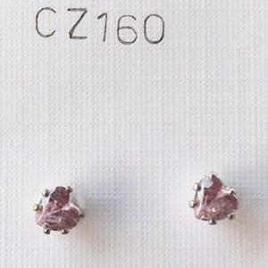 orecchini cuori rosa