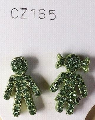 orecchini cristallo verde
