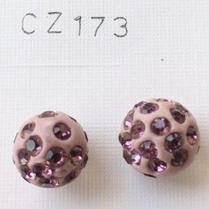 orecchini palline rosa