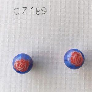 orecchini palline blu