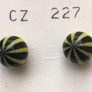 orecchini palline strisce