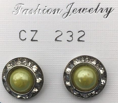 orecchini perle verdi