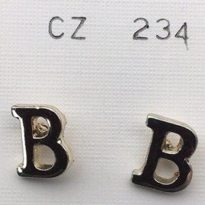 Orecchini lettere B