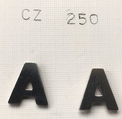orecchini lettre A