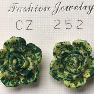 orecchini rose verdi