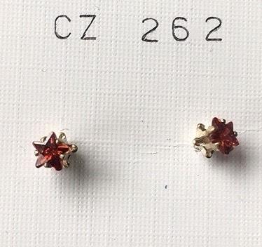 orecchini cristalli rossi