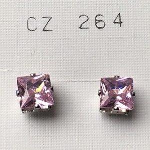 orecchini cristalli rosa