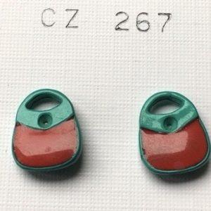 orecchini borsette rosse