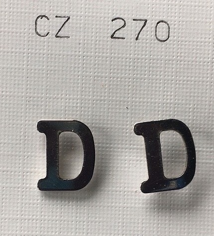 orecchini lettere d