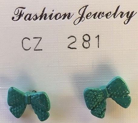 orecchini fiocchi verdi