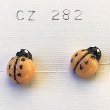 orecchini coccinelle arancio