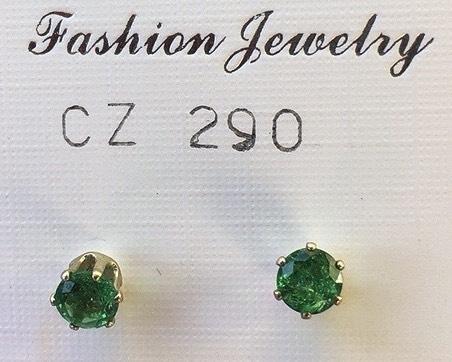 orecchini cristalli verdi