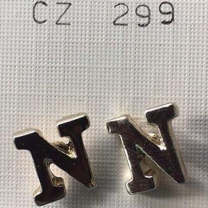 orecchini lettere N