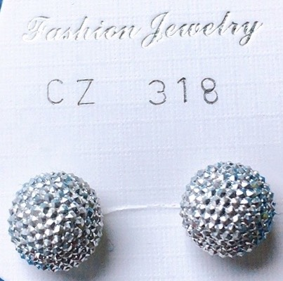 orecchini palline diamantate
