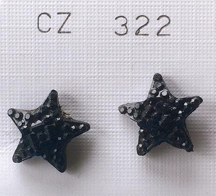orecchini stelline nere
