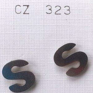 lettere s orecchini