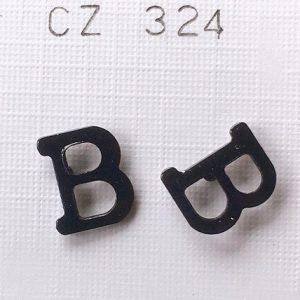 lettere iniziali B orecchini