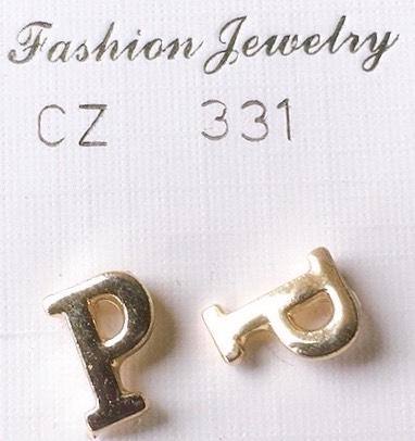 orecchini lettere p