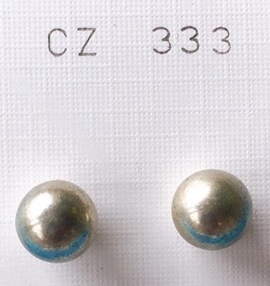 orecchini palline grigie