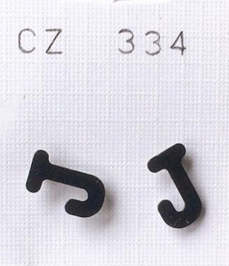 orecchini lettere J
