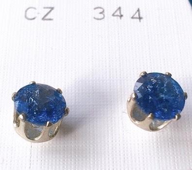 orecchini cristalli blu