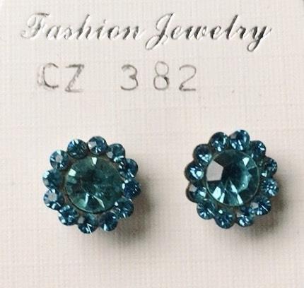 orecchini cristalli fiore