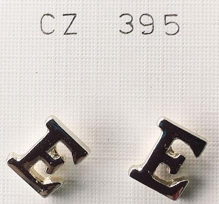 orecchini lettere E